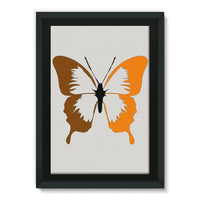 Brown Orange Butterfly Framed Canvas 20X30 Wall Decor