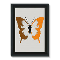 Brown Orange Butterfly Framed Canvas 24X36 Wall Decor