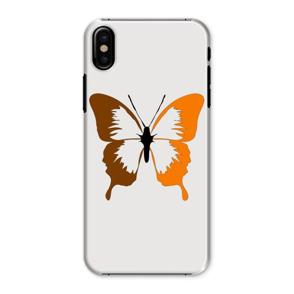 Brown Orange Butterfly Phone Case Iphone X / Snap Gloss & Tablet Cases