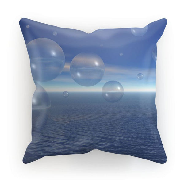 Bubbles With Fields Cushion Linen / 12X12 Homeware
