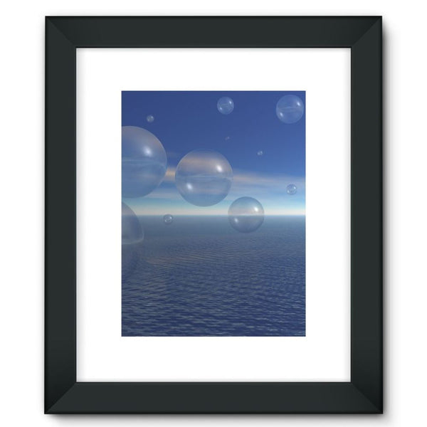 Bubbles With Fields Framed Fine Art Print 12X16 / Black Wall Decor