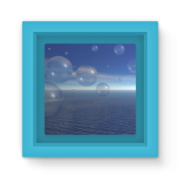 Bubbles With Fields Magnet Frame Light Blue Homeware