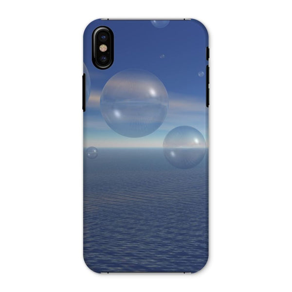 Bubbles With Fields Phone Case Iphone X / Snap Gloss & Tablet Cases