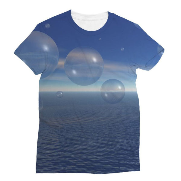 Bubbles With Fields Sublimation T-Shirt S Apparel