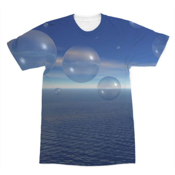 Bubbles With Fields Sublimation T-Shirt Xs Apparel
