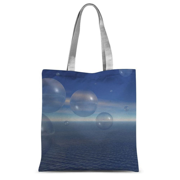 Bubbles With Fields Sublimation Tote Bag 15X16.5 Accessories