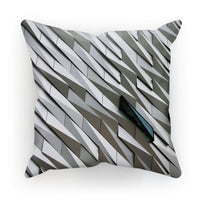Building Wall Pattern Cushion Faux Suede / 12X12 Homeware