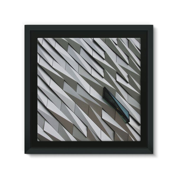 Building Wall Pattern Framed Canvas 12X12 Wall Decor