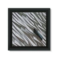 Building Wall Pattern Framed Eco-Canvas 10X10 Wall Decor
