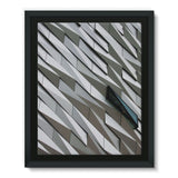 Building Wall Pattern Framed Eco-Canvas 11X14 Wall Decor