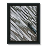 Building Wall Pattern Framed Eco-Canvas 18X24 Wall Decor