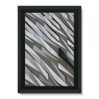 Building Wall Pattern Framed Eco-Canvas 20X30 Wall Decor