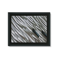 Building Wall Pattern Framed Eco-Canvas 24X18 Wall Decor