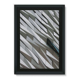 Building Wall Pattern Framed Eco-Canvas 24X36 Wall Decor