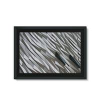 Building Wall Pattern Framed Eco-Canvas 36X24 Wall Decor