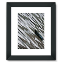 Building Wall Pattern Framed Fine Art Print 12X16 / Black Wall Decor