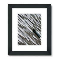 Building Wall Pattern Framed Fine Art Print 18X24 / Black Wall Decor