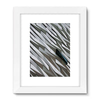 Building Wall Pattern Framed Fine Art Print 18X24 / White Wall Decor