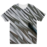 Building Wall Pattern Kids Sublimation T-Shirt 3-4 Years Apparel