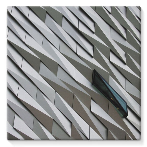 Building Wall Pattern Stretched Canvas 10X10 Wall Decor