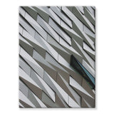 Building Wall Pattern Stretched Canvas 12X16 Wall Decor