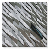 Building Wall Pattern Stretched Canvas 14X14 Wall Decor
