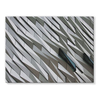 Building Wall Pattern Stretched Canvas 16X12 Wall Decor