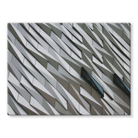 Building Wall Pattern Stretched Canvas 24X18 Wall Decor