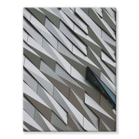 Building Wall Pattern Stretched Canvas 24X32 Wall Decor