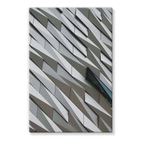 Building Wall Pattern Stretched Canvas 24X36 Wall Decor