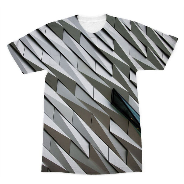 Building Wall Pattern Sublimation T-Shirt Xs Apparel