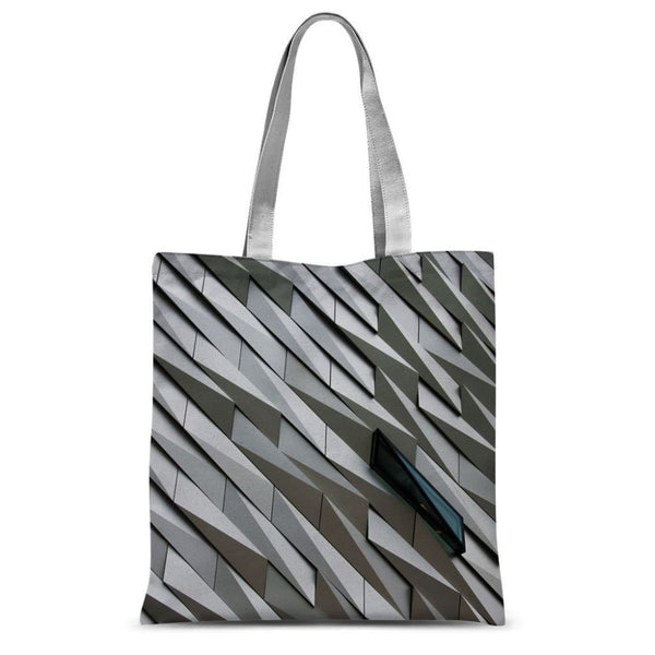 Building Wall Pattern Sublimation Tote Bag 15X16.5 Accessories