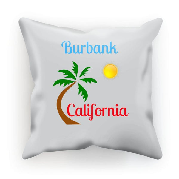 Burbank California Palm Sun Cushion Linen / 12X12 Homeware