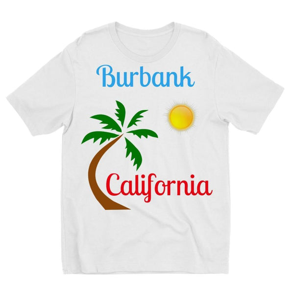 Burbank California Palm Sun Kids Sublimation T-Shirt 3-4 Years Apparel