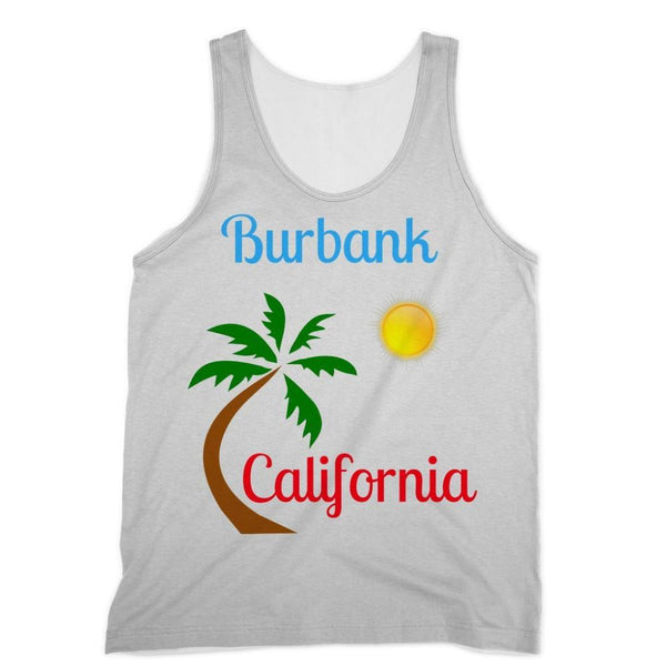 Burbank California Palm Sun Sublimation Vest Xs Apparel