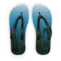 Bushes Near The Water Flip Flops S Accessories