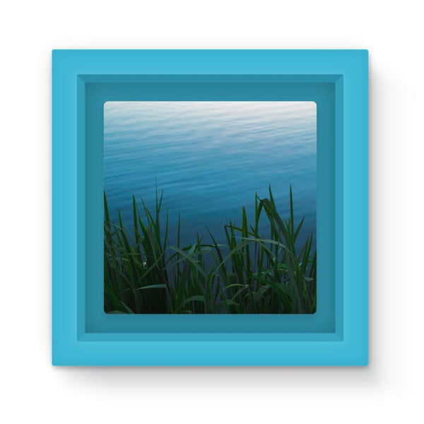 Bushes Near The Water Magnet Frame Light Blue Homeware