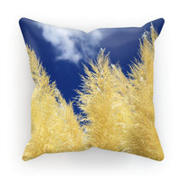 Bushes With Sky Background Cushion Canvas / 18X18 Homeware