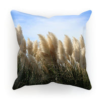 Bushes With Sky Background Cushion Linen / 12X12 Homeware