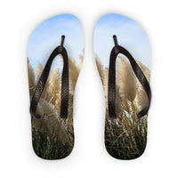Bushes With Sky Background Flip Flops S Accessories