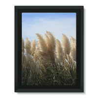 Bushes With Sky Background Framed Canvas 18X24 Wall Decor