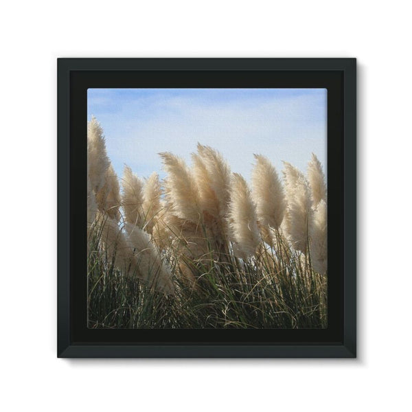 Bushes With Sky Background Framed Eco-Canvas 10X10 Wall Decor