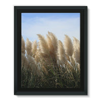 Bushes With Sky Background Framed Eco-Canvas 11X14 Wall Decor