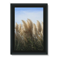 Bushes With Sky Background Framed Eco-Canvas 24X36 Wall Decor