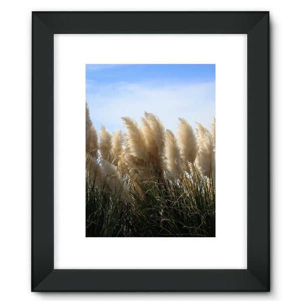 Bushes With Sky Background Framed Fine Art Print 12X16 / Black Wall Decor