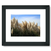 Bushes With Sky Background Framed Fine Art Print 16X12 / Black Wall Decor