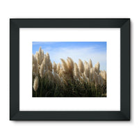 Bushes With Sky Background Framed Fine Art Print 24X18 / Black Wall Decor