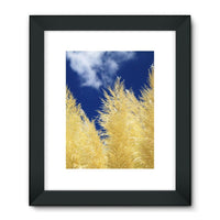 Bushes With Sky Background Framed Fine Art Print 24X32 / Black Wall Decor
