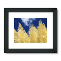Bushes With Sky Background Framed Fine Art Print 32X24 / Black Wall Decor