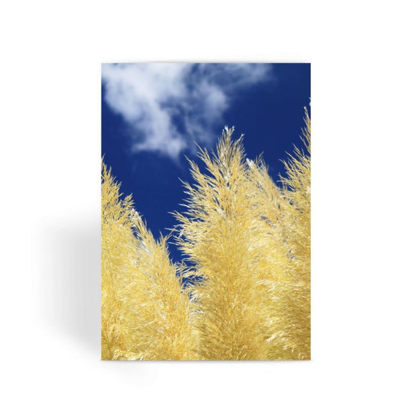 Bushes With Sky Background Greeting Card 1 Prints